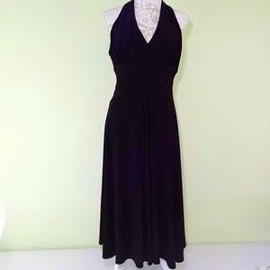 Jessica Howard Black Midi Dress Size 12 Halter